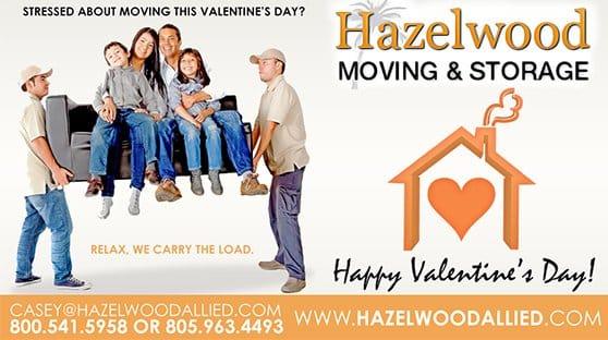 Happy Valentine's Day from Santa Barbara Moving Company