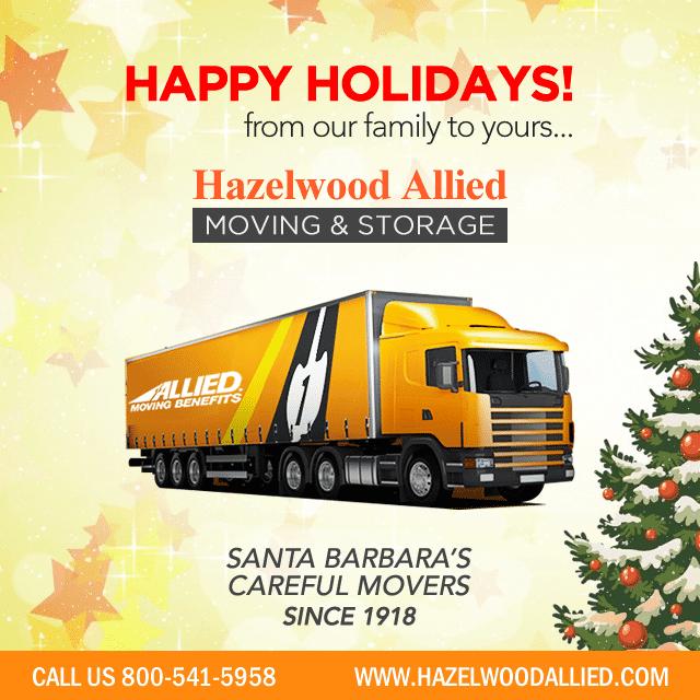 Happy Holidays from Best Santa Barbara Moving and Storage Company